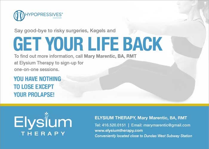 Elysium massage therapy hypopressives pose